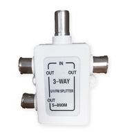 Dencon 3 Way TV Splitter Combiner