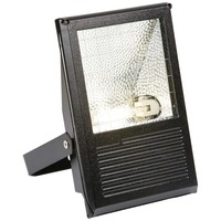 KnightsBridge 70W HQI Floodlight IP54 Outdoor Black Die-Cast Aluminium