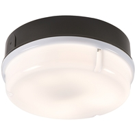 KnightsBridge IP65 16W Round Bulkhead with Opal Diffuser-(Black, White)
