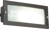 KnightsBridge IP44 9W PL Low Energy Black Bricklight