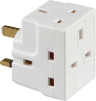 KnightsBridge 13A 3-Way Mains Fused Adaptor
