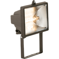 KnightsBridge IP54 500W Enclosed Halogen Floodlight Black