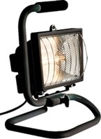 KnightsBridge IP54 500W Portable Halogen Enclosed Floodlight Black