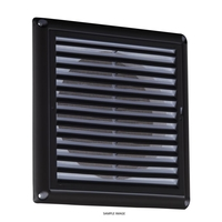 KnightsBridge 6 Extractor Fan Grille with Fly Screen - Black