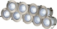 KnightsBridge 230V IP65 10 x 0.2w Cool White LED Kit 6000K