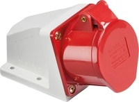 415V IP44 16A Angled Surface Mount Socket 3P+N+E by KnightsBridge