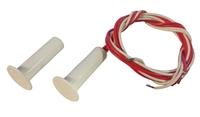 Knight 4 Wire Flush Pencil Intruder Alarm Contact with Flange - White
