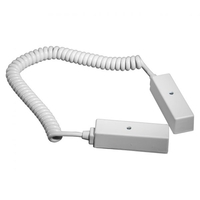 "Knight 6 Way 10"" Coiled Door Loop - White"