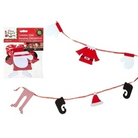 PMS 175cm Christmas Boy Elf Clothes Fireplace Washing Line Decoration