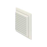 Polypipe 100mm White Louvered Grille Round Spigot