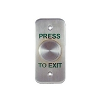 CQR Emergency Stainless Steel Press To Exit Button - Architrave