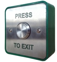 CQR Large Stainless Steel Press to Exit Button