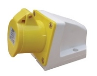 ESR 16A 2P+E 110V Yellow FEMALE Angled Wall Socket
