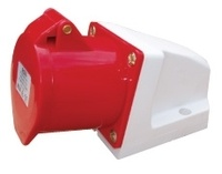 ESR 32A 3P+N+E 415V RED Angled Socket