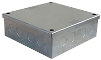 ESR 150x150x75mm Galvanised Adaptable Box - With Knockouts
