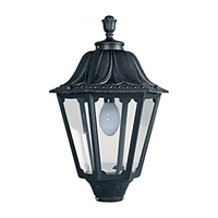 Fumagalli NOEMI E27 Hexagonal Lantern Head Black Traditional Garden Light