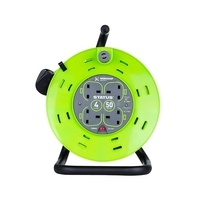 Status 50m 4G Extension Reel on Metal Drum - GREEN