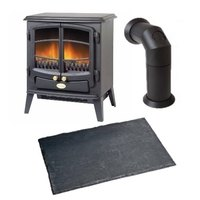 Dimplex Tango Electric Stove with Stove Pipe & Hearth Pad Bundle