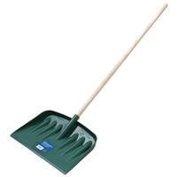 Garland Green Snow Shovel with Wooden Handle