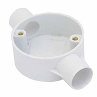 Greenbrook 25mm White PVC Through Box