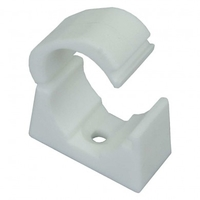 Greenbrook 20mm White PVC Snap-On Saddle