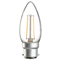 KnightsBridge 2W BC LED Clear Candle Bulb