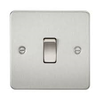 KnightsBridge 1G Intermediate Flat Plate Switch- Brushed Chrome