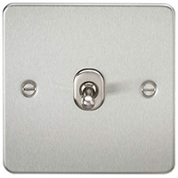 KnightsBridge 1G 2 Way Flat Plate Switch