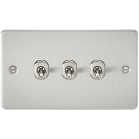KnightsBridge 3G 2 Way Toggle Switch Flat Plate- Brushed Chrome