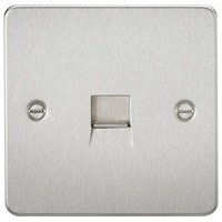 KnightsBridge Telephone Extension Socket Flat Plate- Brushed Chrome
