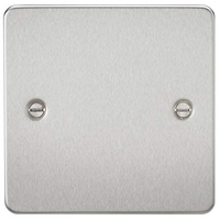 KnightsBridge 1G Blanking Flat Plate- Brushed Chrome