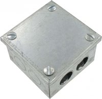 Zexum Galvanised Adaptable Box with Knockouts