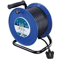 Masterplug 50m 4G Heavy Duty Cable Reel - Blue