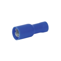 Zexum 5mm BLUE Female Bullet Push-On Terminal - 10 Pack