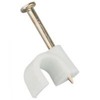 Zexum 3-5mm White Round Flexi Clips (100 Pack)
