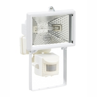 Greenbrook 120W WHITE Halogen Floodlight with PIR