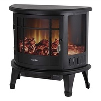 Warmlite 1.8kW Log Effect Stove with Flame Adjustment and Temperature Control