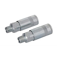 "Silverline 1/4"" BSP Air Line Male Thread Quick Coupler - 2 PACK"
