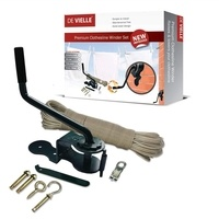 De Vielle Premium Clothes Line Winder Kit