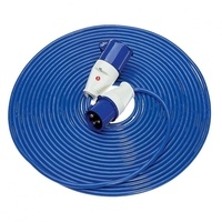 Zexum 32A Blue Male - 32A Blue Female, 14m 2.5mm Blue Lead