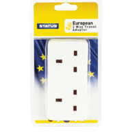 Status 2 Way UK to EU Travel Adaptor