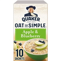 Quaker Oat So Simple Porridge Apple & Blueberry - 10 Sachets