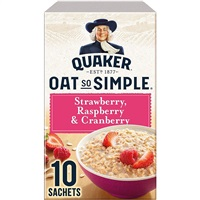 Quaker Oat So Simple Porridge Strawberry, Raspberry & Cranberry - 10 Sachets