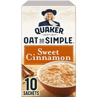 Quaker Oat So Simple Porridge Sweet Cinnamon - 10 Sachets