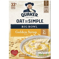 Quaker Oat So Simple Big Bowl Porridge Golden Syrup - 6 Sachets