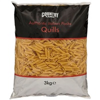Country Range Italian Penne Pasta Quills - 3kg