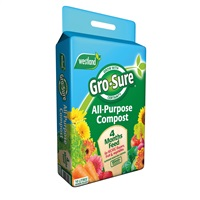 Gro-Sure All-Purpose Compost Pouch & 4 Month Feed - 10L