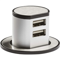 KnightsBridge Recess Mount Pop Up Dual USB Charger
