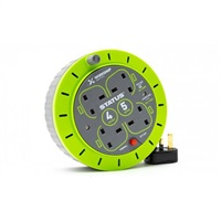 Status 13A 4G Cassette Reel with Thermal Cutout - Green