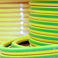 Zexum Earth Green Yellow 16mm 7 Strand 74A Single Core 6491X (H07V-R) Round Power PVC Insulated Conduit Wire
